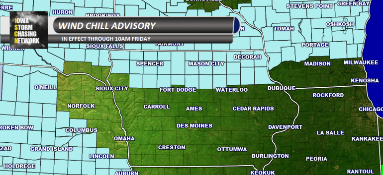 Iowa Wind Chill Advisory