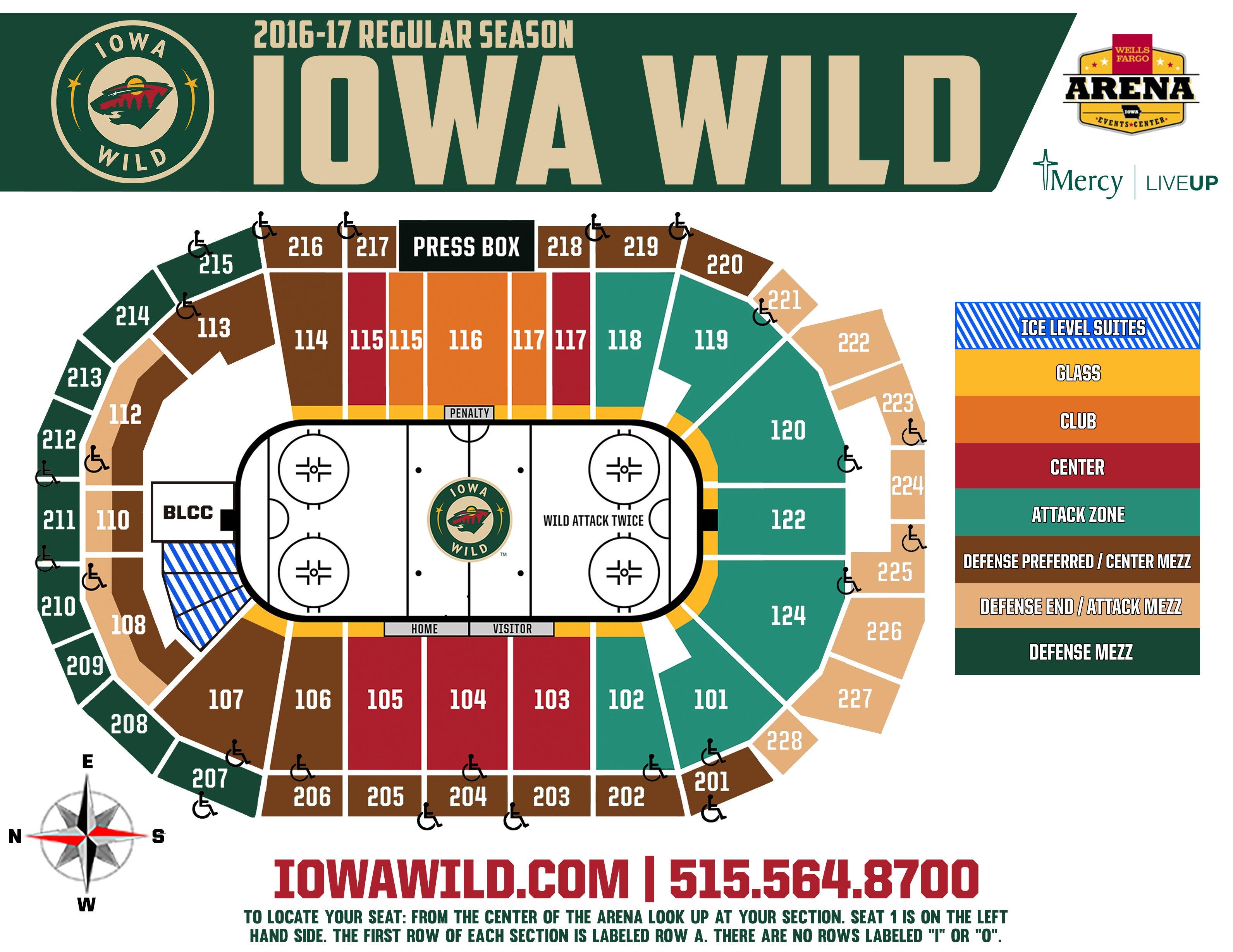 Iowa wild seating chart iowa wild seating chart interactive map