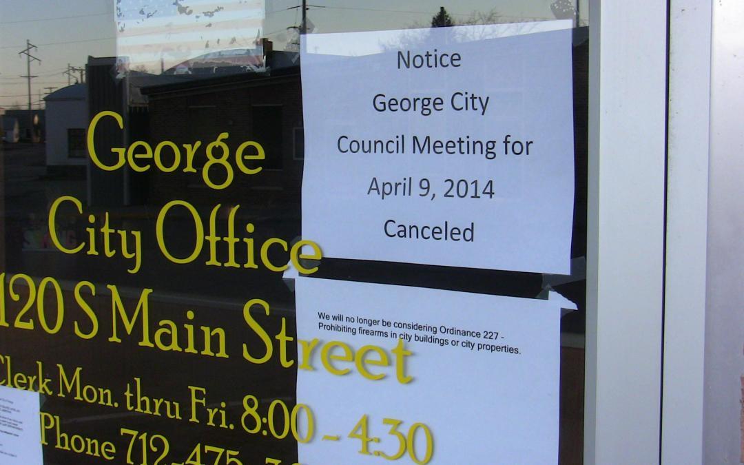 """Boss Hogg"" Gun Ban Stopped in George, IA!!"
