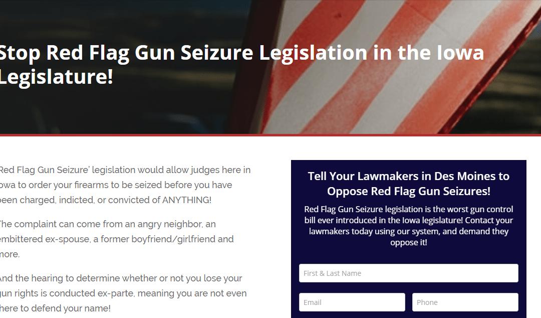 Red Flag Gun Seizure Legislation Filed in Iowa!