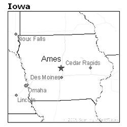 location of Ames, Iowa