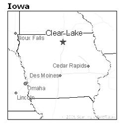 The Van Horn farm was near Clear Lake in Cerro Gordo County, Iowa
