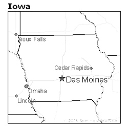 Des Moines, Iowa map - Iowa Unsolved Murders: Historic Cases on