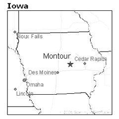 location of Montour, Iowa