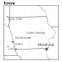 location of Montrose, Iowa