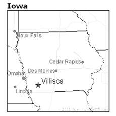 location of Villisca, Iowa