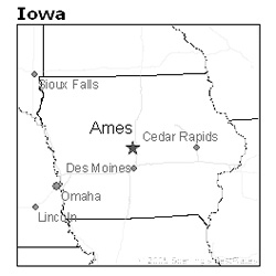 location of Ames, Iowa