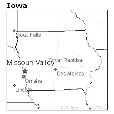 location of Missouri Valley, Iowa