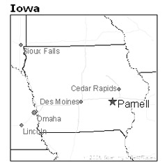 location of Parnell, Iowa
