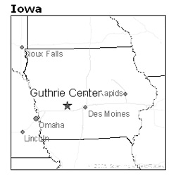 location of Guthrie Center, Iowa