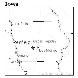 location of Redfield, Iowa