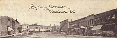Early postcard view of Waukon's business district
