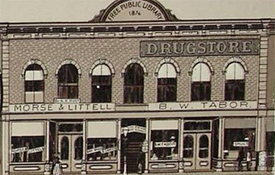 Depiction of Littell's Store, where burglars were trying to break in.