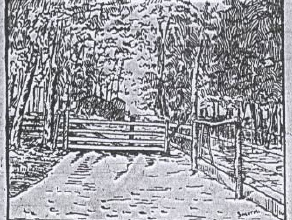 "Sketch of the cow gate by ""Smith,"""