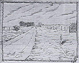 """Crime scene looking towards Russie farm by """"Smith,"""""""