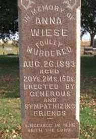 Inscription on Anna's tombstone.