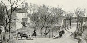 Early photo of Hazelton, Iowa (History of Buchanan County)