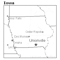 location of Unionville, Iowa