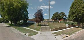The location where a man and woman were heard arguing (from Google Streetview)