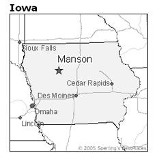 location of Manson, Iowa