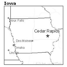 location of Cedar Rapids