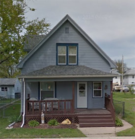 Traci Evenson was murdered on the second floor of this Cedar Rapids home (from Google Street View).