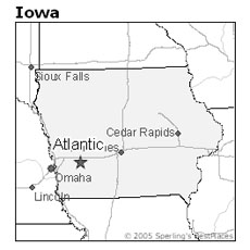 location of Atlantic, Iowa