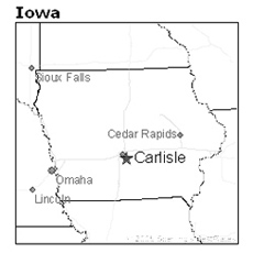 location of Carlisle, Iowa