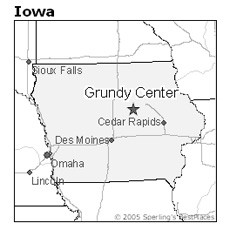 location of Grundy Center