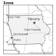 location of Waverly, Iowa