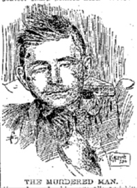 Sketch of the victim's body.