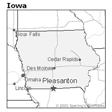 location of Pleasanton, Iowa