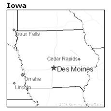 location of Des Moines, Iowa