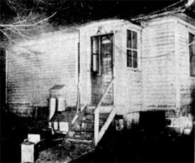 Back door of Ciler home (from the Cedar Rapids Gazette)