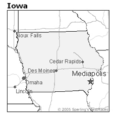location of Mediapolis, Iowa