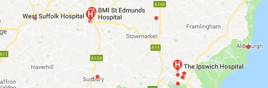 Hospitals in Suffolk