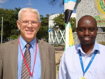 Walter Thomas (left) and Wesley Ronoh (right) of the EAC-GIZ Programme on Regional Integration (Photo Credit: RMH, IP-Watch)