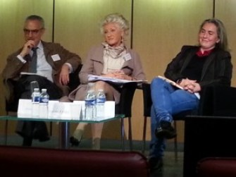 From left, Alain Coblence, Paola Tarchini and Carlotte Paoli.