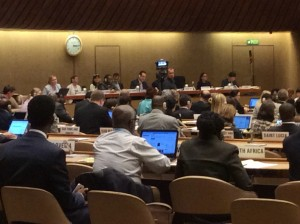 WHA68 committee action Photo credit: Eimear Murphy