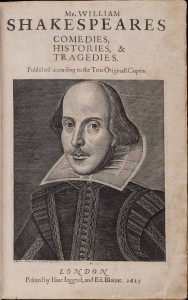 Title page of William Shakespeare's First Folio 1623