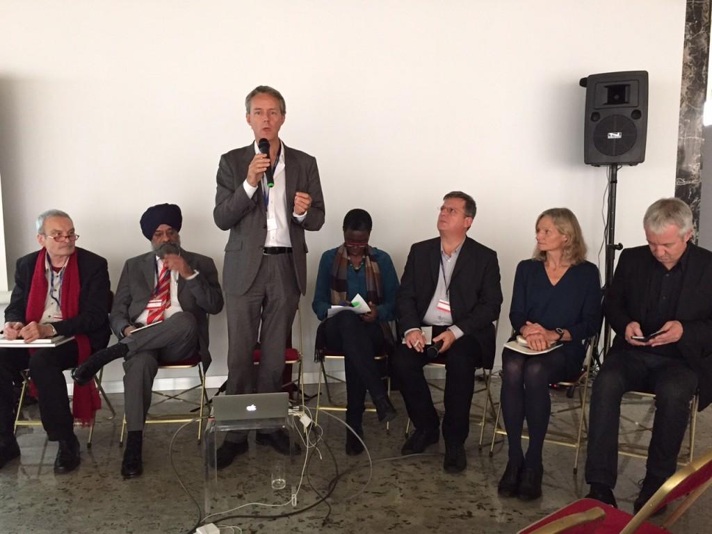 FIAPF's Bertrand Mouillier moderates the panel