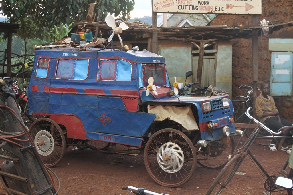 Local construction of bicycle-car considered an innovation in central Kenya.