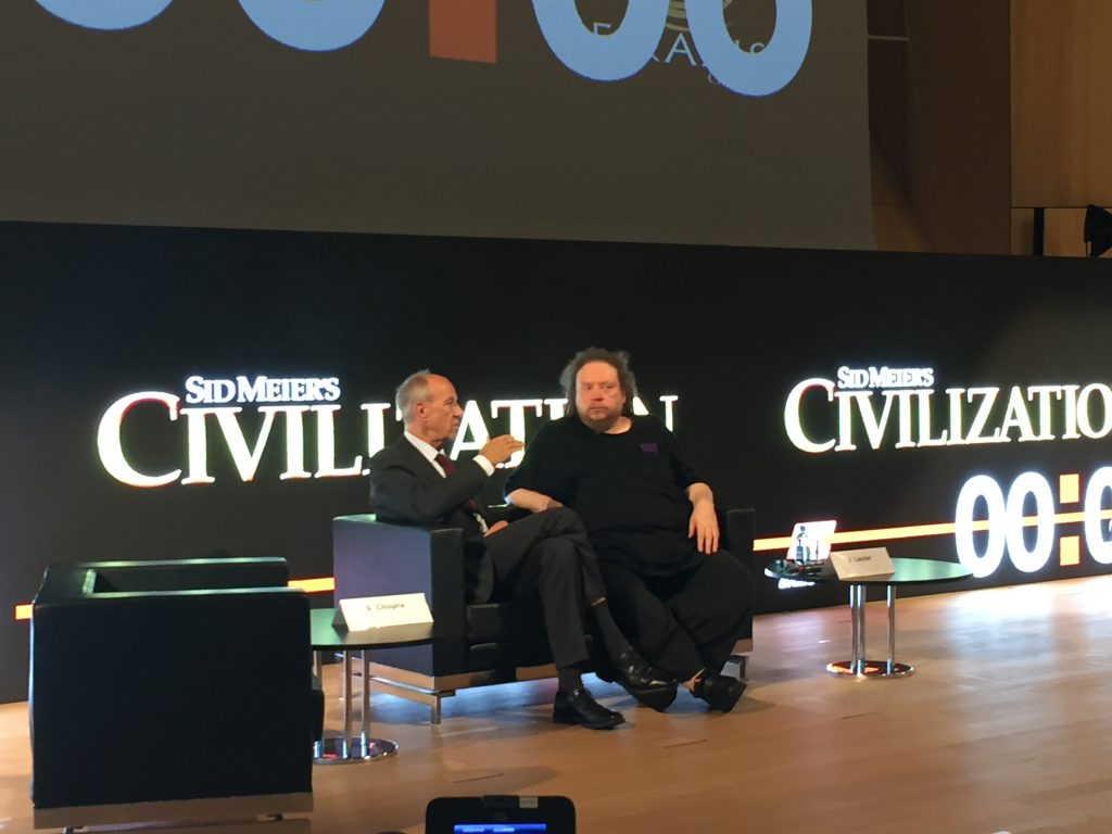 WIPO Director General Francis Gurry and Jaron Lanier, computer scientist, author, and composer, key note speaker of the conference
