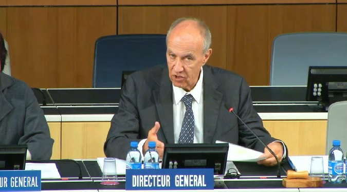 WIPO Director General Francis Gurry at a recent WIPO meeting