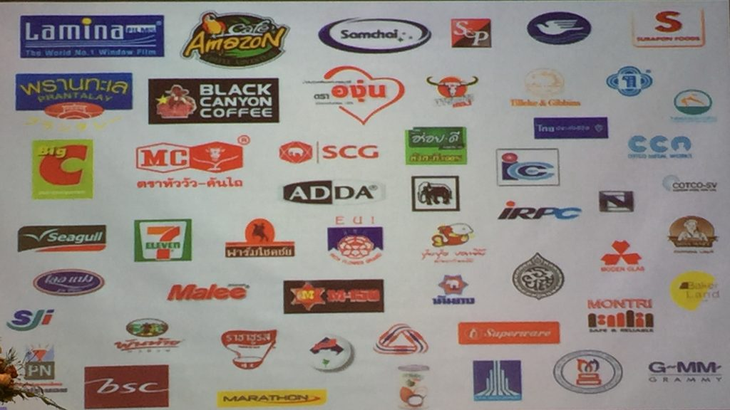 Well-known trademarks of Thai industries