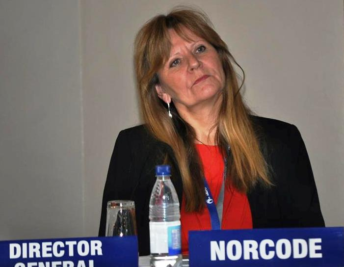 Inger Dirdal, NORCODE managing director, at the workshop