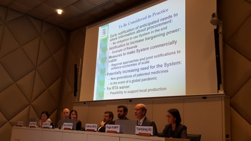 South Centre side event on Paragraph 6 at WTO last week