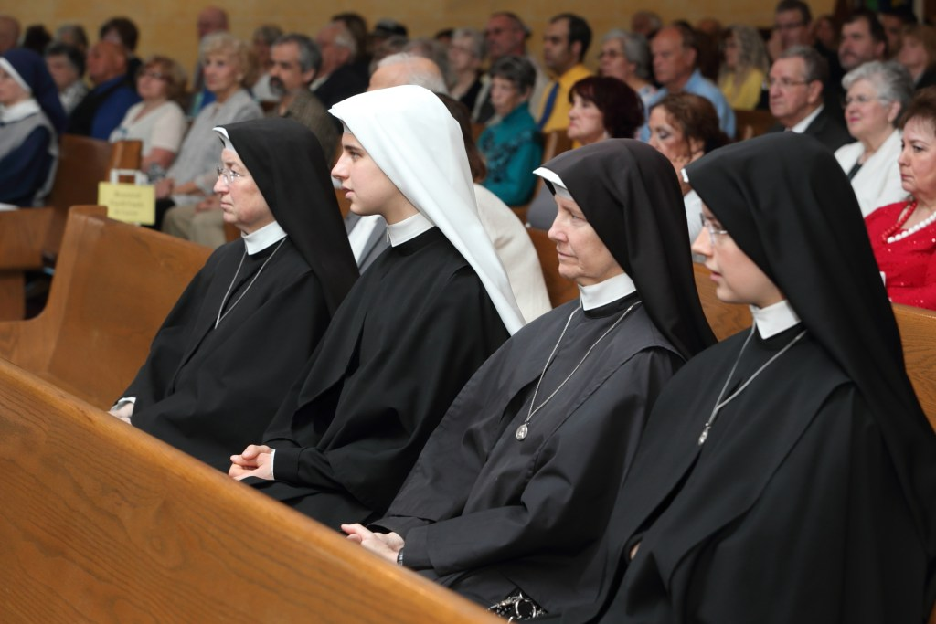 The Sisters, Slaves of the Immaculate from Still River, MA at my 25th Anniversary of Ordinarion