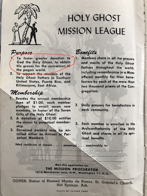 Holy Ghost Father' Mission News February 1953