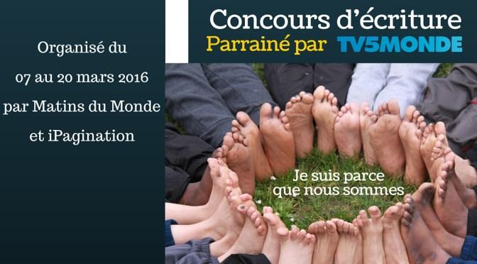 Concours d'écriture gratuit parrainé par TV5 Monde